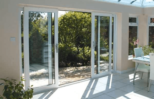 Patio doors grand rapids mi west michigan glass block for Center sliding patio doors