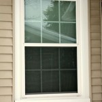 Exterior View, Double Hung Window w Grids Both Sashes