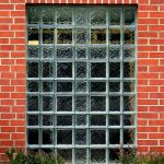 Exterior-glass-block-church-window-with-cross-in-it